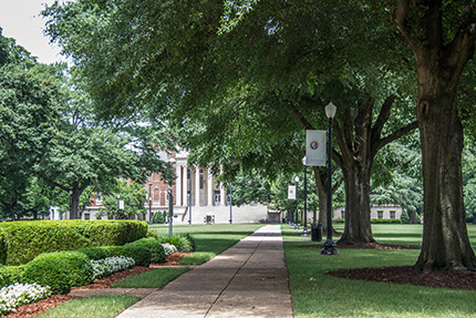 Gorgas Library viewed from the UA Quad