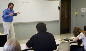 Dr. Wrenn teaching a class