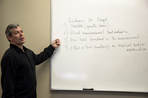 Dr. Richard Richards teaching a class