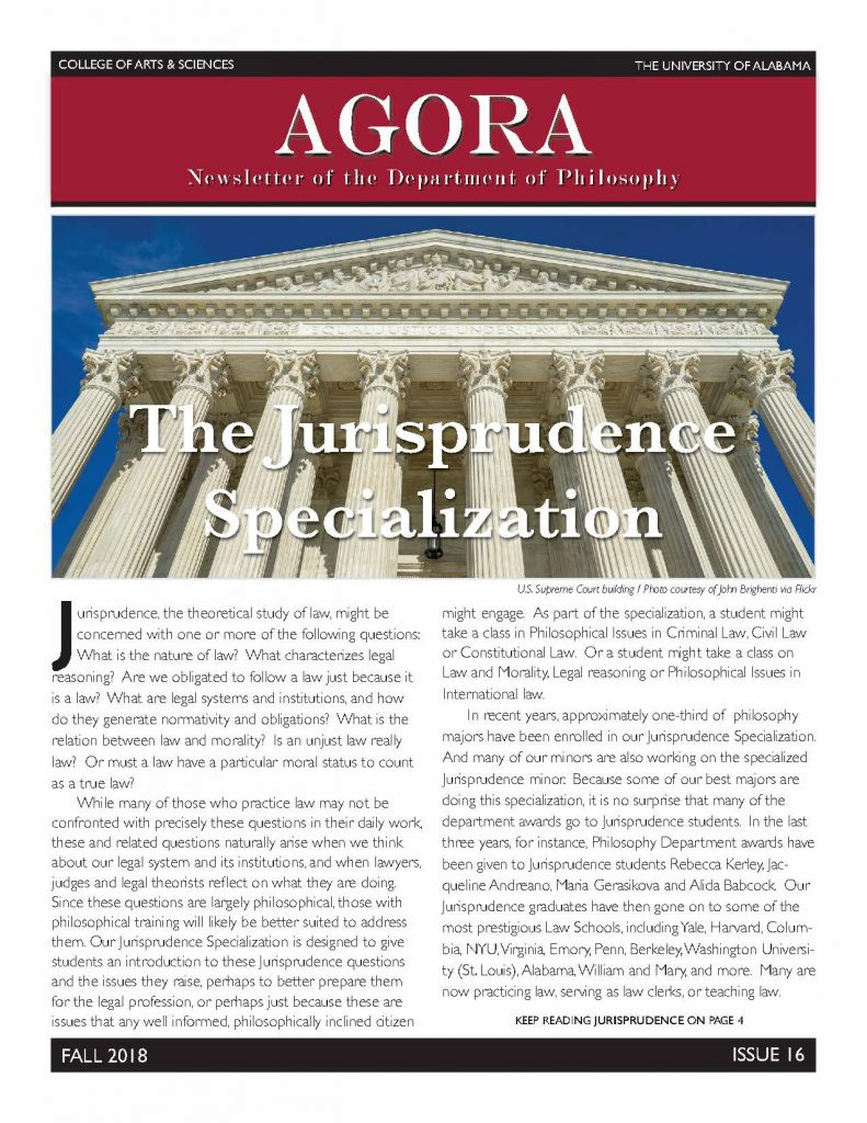 Cover of 2018 Agora Newsletter